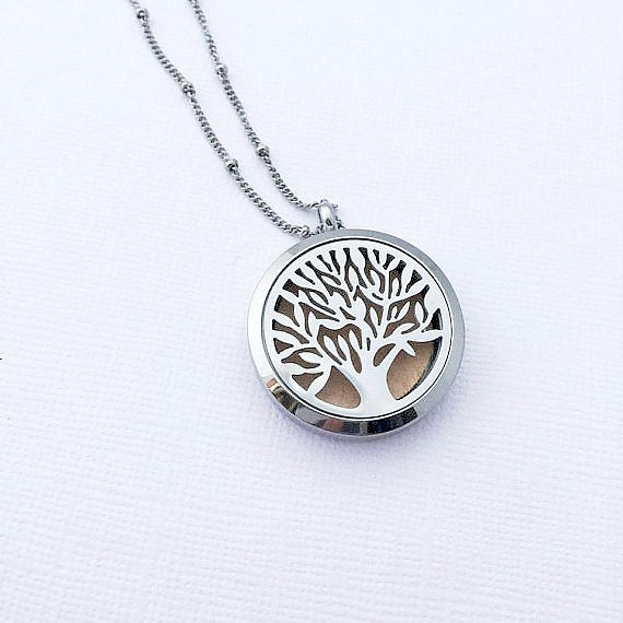 Diffuser necklace tree of life jewelry aromatherapy necklace like this item aloadofball Gallery