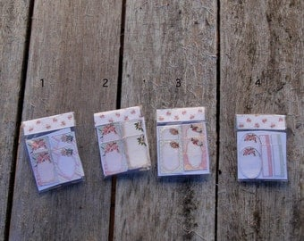 Dollhouse floral tags/labels shabby chic