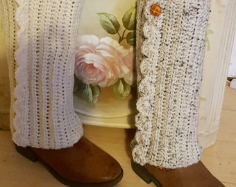 Little girls crochet boot covers/legwarmers
