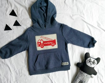 Fire truck engine hoodie size 3 (SALE)