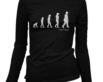 Women's Revolution Long Sleeve Tee - S M L XL 2x - Ladies' Hip Hop T-shirt, Rap Music, DJ, Evolution - 2 Colors