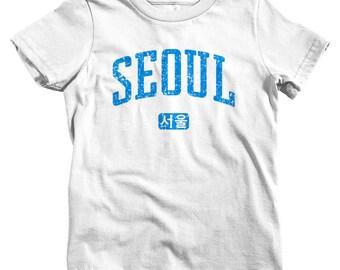 Kids Seoul Korea T-shirt - Baby, Toddler, and Youth Sizes - Seoul Tee, South Korea, Korean, ROK - 4 Colors