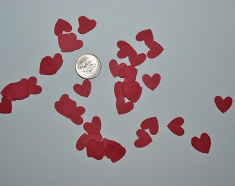 Heart confetti for invitations, weddings, engagements, pinatas, table decoration, scrapbooking, and tags