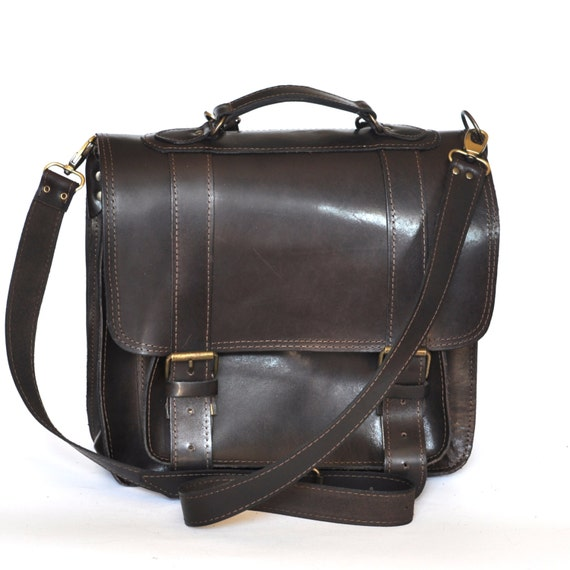 Ready to ship Extra large leather messenger / Backpack /