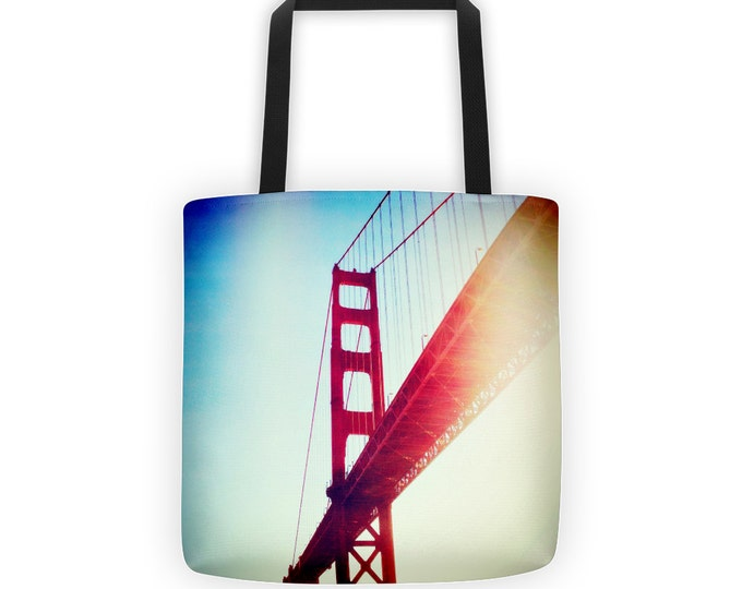 IN STOCK Golden Gate Bridge Tote for Eco Shopping and School and Sundry