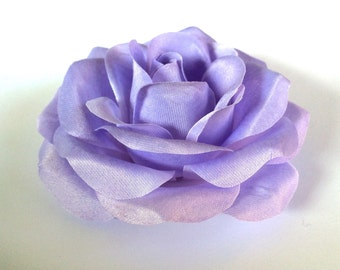 Lavender Rose - Lilac Fabric Flower Hair Accessory or Pin - Bride or Bridesmaid