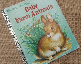 3.00 Sale  ~  Little Golden Book ~  Baby Farm Animals