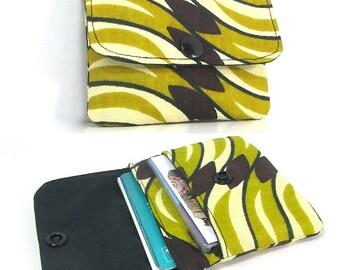Porte-cartes 2 compartiments N4 en tissu wax