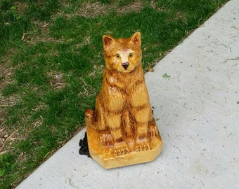 Chainsaw Carving Chainsaw Carved Cat