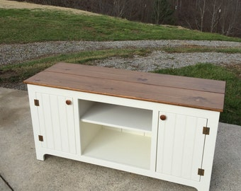 Creamy Media Console, Custom TV Stand, KK Furniture