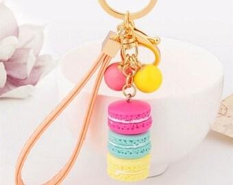 Macaron keychain, Kawaii style