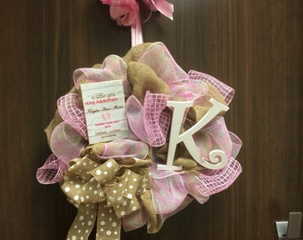 Baby Hospital Door Wreath