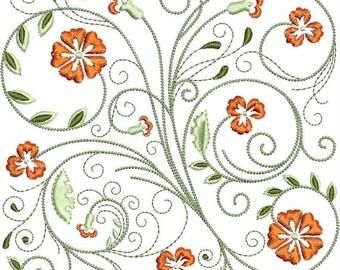50% OFF SALE FabuFlower Blocks Machine Embroidery Design -  5x7