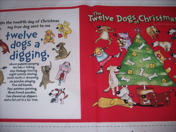 Cloth storybook panel to make the twelve dogs of christmas Build storybook
