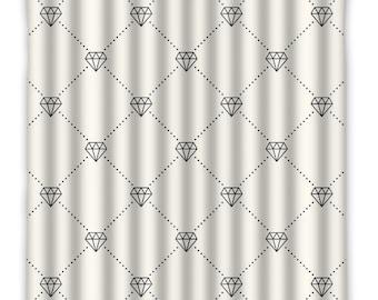 diamond shower curtain shower curtain diamond print bath decor custom shower curtain