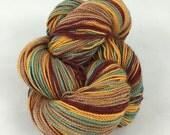 Autumn Kiss: Superwash sparkly Panache Self Striping Sock Yarn