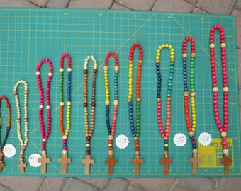 Ready to Ship Rosary Colorful Wooden Beads for Children with Priority Option