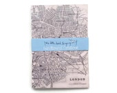 London Travelers Notebook - Journal - Notebook - Exercise Book  - 60 Pages