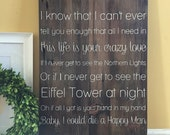 READY TO SHIP. Thomas Rhett Lyrics. Die a Happy Man. Personalization with names and date available. Barn Wood Sign. Painted Sign.