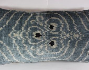 Silk Velvet Ikat Pillow Cover Lp301, Bohemian pillow, Velvet Ikat Pillow, Velvet Pillow