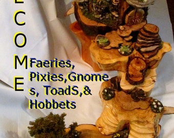 Unique Fairy/Gnome House Orders for Sept- December. Small, Med, lg, extra Lg.THIS is a 100.00 DOLLAR DEPOSIT only