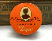 Vintage Carter's Dragon Typewriter Tin empty Cameo Underwood