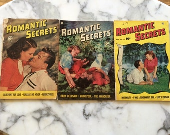 Romantic Secrets Magazine - three issues from 1951