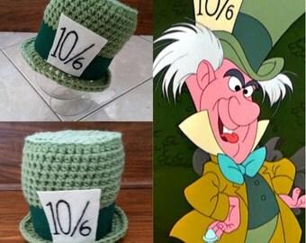 Crochet Mad Hatter Top Hat