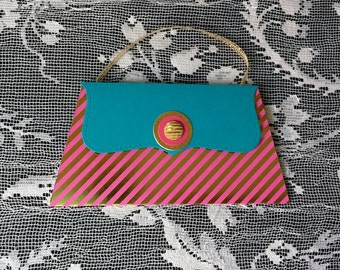 Gift card holders and money holder Turquoise and Pink Purse