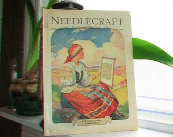 1930 Needlecraft Magazine of Home Arts October Issue Vintage 1930s Sewing