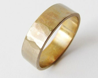 Patina wedding band. Simple textured mens ring. His and hers wedding bands.