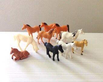 Plastic Horses - Miniature Plastic Horse Set - Instant Collection of Vintage Horses