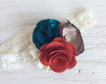baby girl headband toddler headband flower headband matilda jane m2m flower infant newborn headband