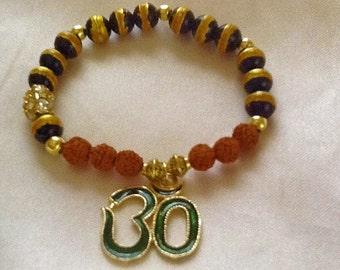 OHM bracelet , bohemian bracelet , yoga bracelet , meditation bracelet , healing bracelet , indie bracelet