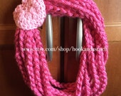 Valentine Infinity Chain Scarf Cowl With Heart