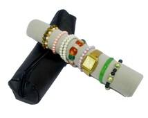Black PU Gray Pillow Jewelry Organizer Travel Storage Roll Organize Watches Bracelet Bangle Holder Display Storage Case New 2016