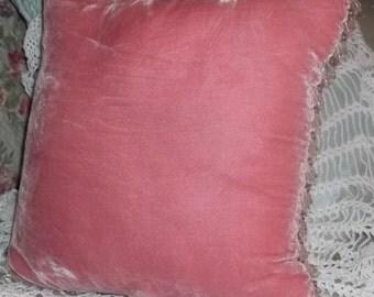 40% Off, Vintage, Velvet Pillow, Throw pillow, Beaded pillow, Shabby chic, french, Romantic,