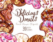 Delicious Donuts Digital Download Clip Art Design Pack