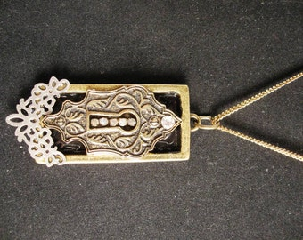 Square Keyhole Necklace