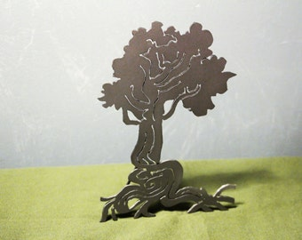 Small tree sculpture, mild steel