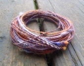 Fiber Wire Core Handspun Art Yarn 24 gauge wire Red Riding Hoods Wolf- Witches Brew