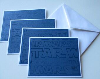 Blank Note Cards >> set of 4 Blank Note Cards, Blank Cards, Card Set, Stationery, Note Cards, Cards and Envelopes