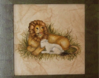 Theorem Painting of the Lion & the Lamb