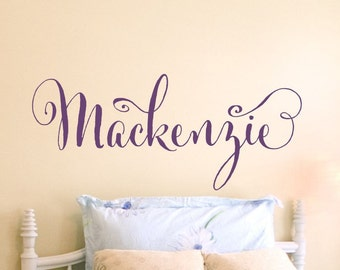 Girl Name Wall Decal Girls Name Decal Girls Bedroom Name Decal Wall Decal Wall Decor Girls Nursery Baby Girl Nursery Personalized Monogram