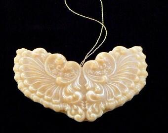 Handmade Artisanal Beeswax Ornament - VICTORIAN ANGEL WINGS