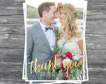 Printable Photo Card - Thank You