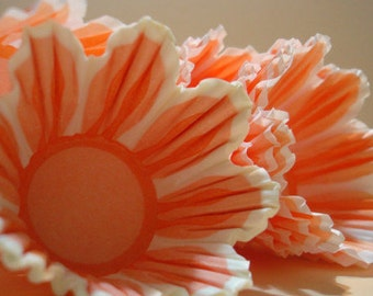 Mini Cupcake Liners Orange Tulip  Baking Cups 45