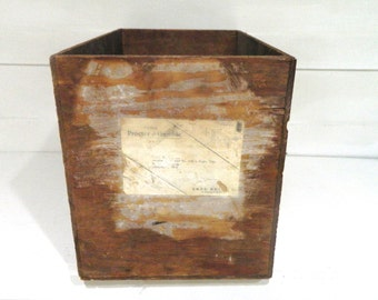 Vintage Wood Box Crate Procter and Gamble