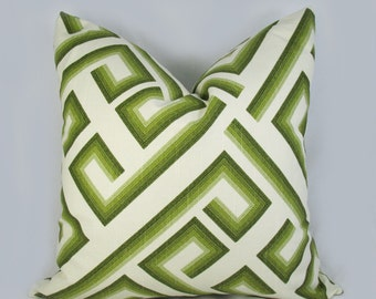 Decorative Pillow Cushion Covers - Accent Pillow - Throw Pillow - Green Olive Ivory