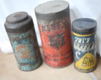 Tin Cans, Orange, Blue, Yellow, Storage, Office, Organization,  Home Decor,Home Decor,
